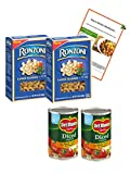 Large Elbows Macaroni and Diced Tomatoes with Basil, Garlic & Oregano with Recipe, Bundle of 4 Items by Tonys Kitchen Adventures