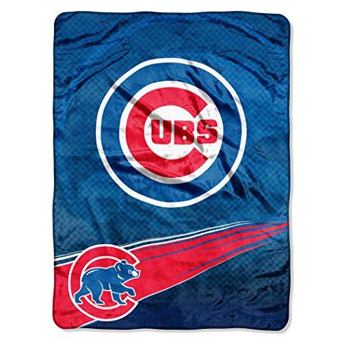 - MLB Chicago Cubs Speed Plush Raschel Throw Blanket, 60x80-Inch