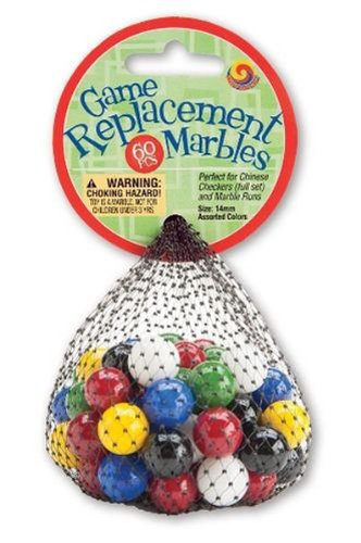 Mega Marbles 14mm Chinese Checkers and Marble Runs Game Replacement Marbles - 60 Piece