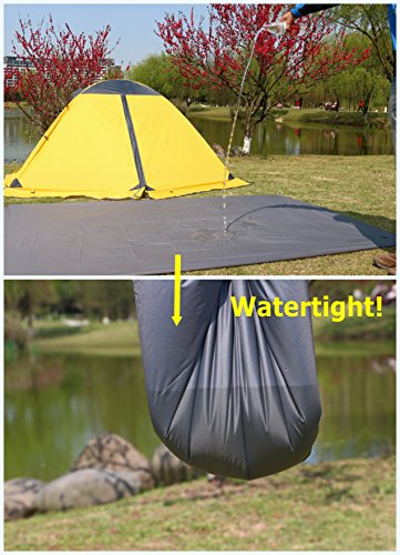 GEERTOP 1 Person Ultralight Waterproof Tent Tarp Footprint Ground Sheet Mat, For Camping, Hiking, Picnic (4 sizes)