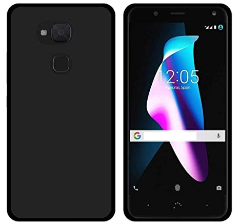 Prevoa Funda para BQ Aquaris V Plus/VS Plus - Colorful Silicona TPU Funda Case para BQ Aquaris V Plus/VS Plus Smartphone - (Negro)