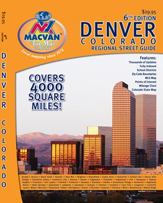 MacVan Denver Colorado Regional Street Guide & Road Atlas