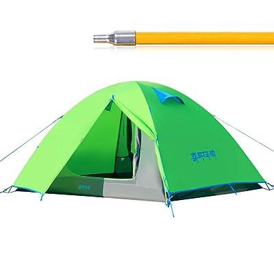 tente a apporté quatre saisons Tente de couchette double en aluminium ultra-léger pole camping3-4 la défense civile tente pluie