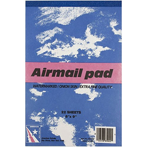 "JAM Paper Airmail Paper Pads - 6"" x 9"" - Onion Skin - 22 sheets per pad"