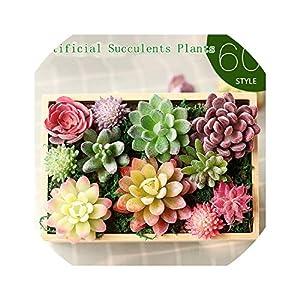 Artificial Succulents Decoration Land Lotus Plants Grass Desert Artificial Plant Landscape Fake Flower Arrangement Garden Home 19