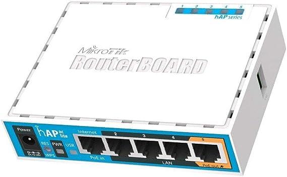 MikroTik HAP AC Lite 450 Mbit/s énergie sur Ethernet (PoE) – Point d'accès (30 – 70 °C, IEEE 802.11 a, iEEE 802.11 AC, IEEE 802.11b, IEEE 802.11 g, IEEE 802.11 N)