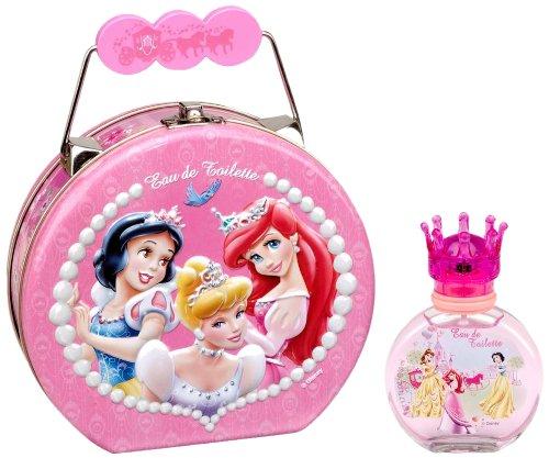 Disney Princess, Geschenkset, Metallkoffer gefüllt mit Eau de Toilette (EdT) 50 ml im Glasflakon 5051000