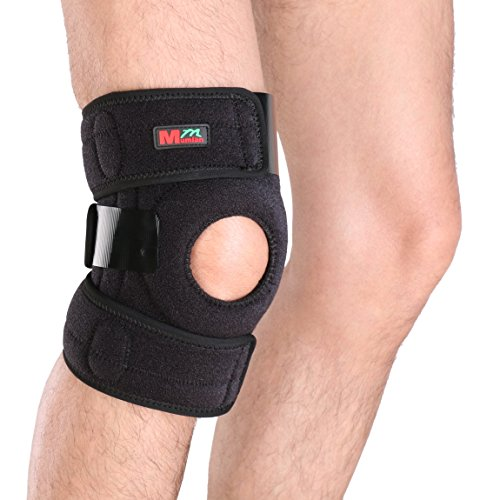 g Knee Support Brace Wrap Protector Pads Sleeve Cap Patella Guard 2 Spring Bars, One Size, Black (Patella Guard)