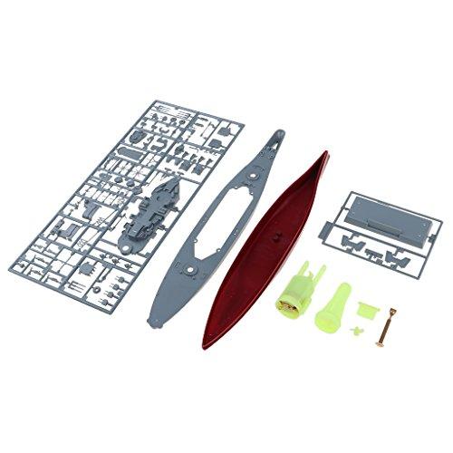 MagiDeal Collectible 1:700 American USS New Jersey Battleship Warship Model Unassemble Kits
