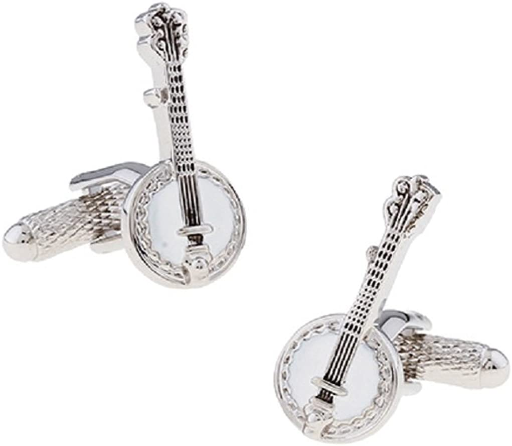 MRCUFF Banjo Music Pair of Cufflinks in Presentation Gift Box & Polishing Cloth