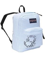 JanSport Superbreak Backpack (White/Blue Right On)