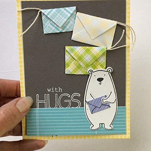 Pop up Envelope Cutting Dies Stencil,Letmefun Metal Die Cuts Cutting Dies for DIY Scrapbooking Embossing Paper Cards Making Decorative Craft Supplies New Year