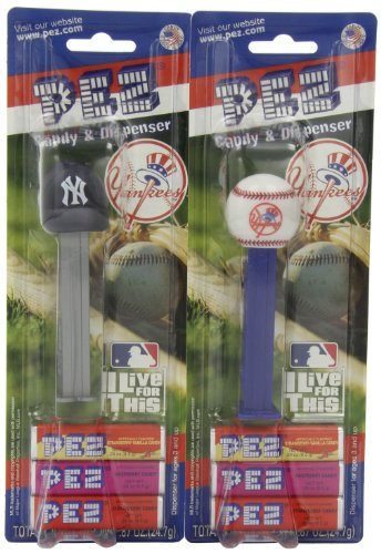 (PEZ MLB New York Yankees, 0.87-Ounce Candy Dispensers (Pack of 12))