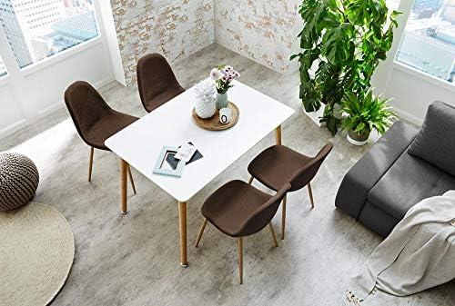 lifestyle4living 4 Esszimmerstühle, Set, Stühle, Schalenstuhl, Sitzgelegenheiten, Esszimmer, Essbereich, Stoff, Braun, Metall, Eiche