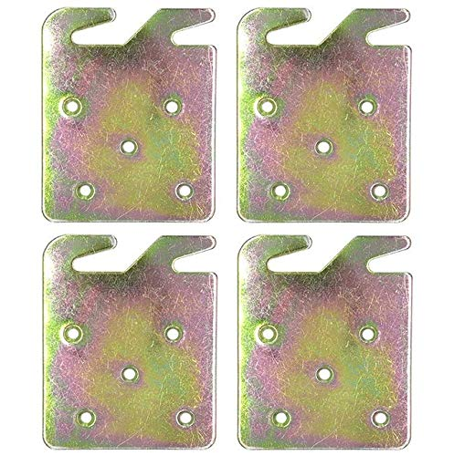 (Yongle Store Wood Bed Rail Hook Plates,Pack of 4,for Wooden Bed,Wooden Headboard,Footboard Frame,Claw it On Intended)
