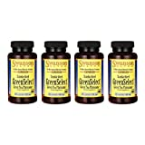 Swanson Greenselect Green Tea Phytosome 600 mg 60 Caps 4 Pack