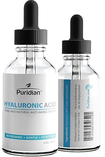 Acido Hialuronico Suero Para La Piel - 100% Puro De La Mas Alta Calidad, Suero Antienvejecimiento Para Hidratación, No graso, Fórmula Potencia Clínica ...