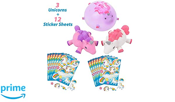 Amazon com: Unicorn Balloons Punch Ball | 3 Piece Set for