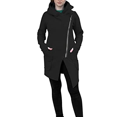 Amazon.com: BETTERUU UFACE Women Winter Zipper Blouse Hoodie Hooded Sweatshirt Coat Jacket Outwear: Clothing