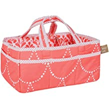 Trend Lab Shell Storage Caddy, Coral/White