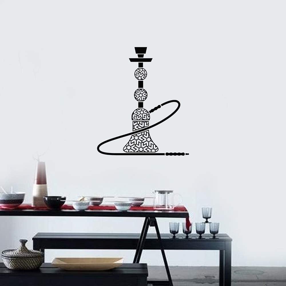 Etiqueta de la Pared del Vinilo de la cachimba Shisha Bar Habitación para Fumadores Estilo árabe Pegatinas Interiores Mural Sala de Estar Decoración del hogar 80x94cm