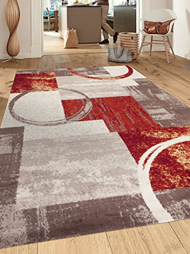 Rugshop Contemporary Abstract Circle Design Soft