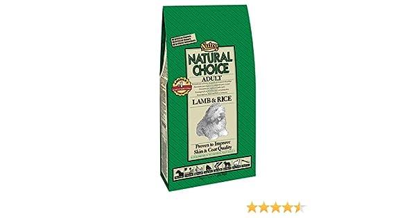 NUTRO - Pienso para Perros medianos Natural Choice Cordero y arroz 12 + 3 kg: Amazon.es: Productos para mascotas