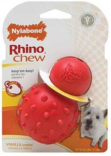 Nylabone Rhino Cone Dog Chew Toy, Regular, My Pet Supplies