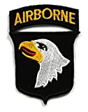 AIRBORNE01 - AIRBORNE Patches, Applique Embroidered patches - Iron on Patches - American Flag Patches - Military Patches - Size : 6 x 8.5 Cm.