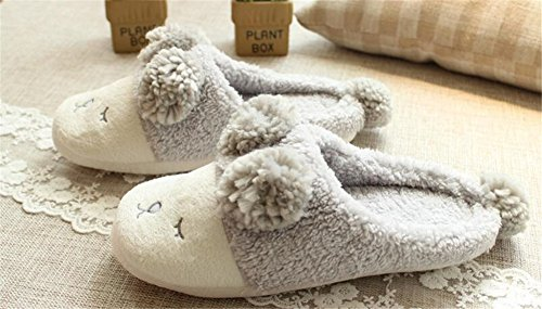 Warmth Adult Indoor Sheep Little Cotton Grey Shoes Slippers Aksautoparts Cartoon xWSwRApqR1