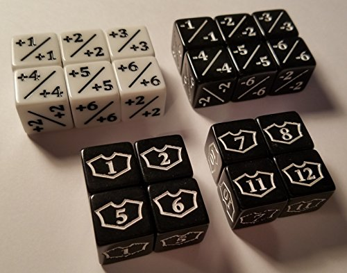 (quEmpire 20x Counter, Negative & Loyalty Dice for Magic: The Gathering and other games / CCG MTG)