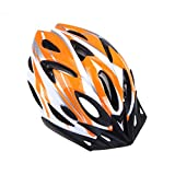 Mountain Road Bicycle Helmets Ultralight 18 Vents Cycling Helmet with Visor (Orange)