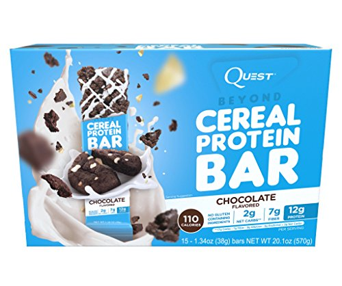 Quest Nutrition Beyond Cereal Protein Bar, Chocolate, 12g Protein, 2g (2g Bar)