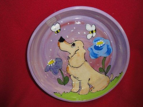 8 inch ceramic dog bowl set - 1