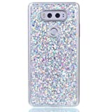 LG V20 Case, LG V20 TPU Case, Rosepark Luxury Anti-Scratch Shock Proof Sparkle Glitter Soft TPU Case Cover for LG V20(Silver)