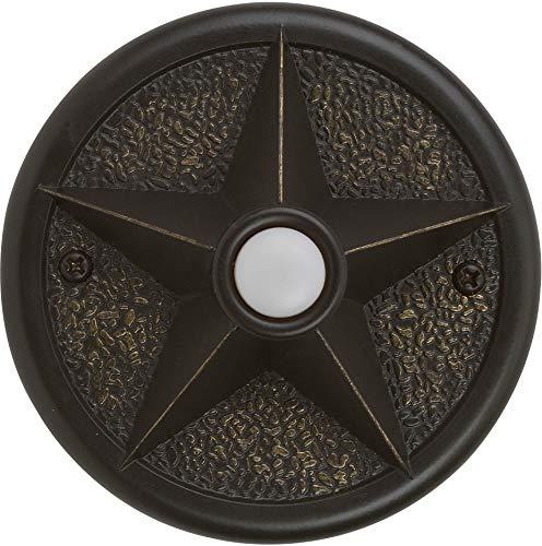 Craftmade PB3036-AZ Designer Surface Mount Star Lighted Doorbell LED Push Button, Antique Bronze (3.6