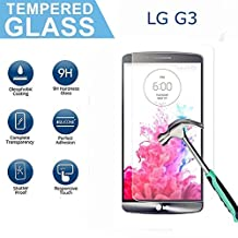 LG G3 Screen Protector, OuDu Premium Tempered Glass Screen Protector for LG G3 Clear Slim Protective Film Anti-Fingerprint Anti-Scratch Guard Cover with 9H Hardness Rating & Easy Bubble-Free Installation