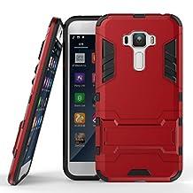 "ASUS Zenfone 3 5.5"" ZE552KL Heavy Duty Case DWaybox 2 in 1 Hybrid Armor Hard Back Case Cover for ASUS Zenfone 3 ZE552KL 5.5 Inches (Marsala Red)"