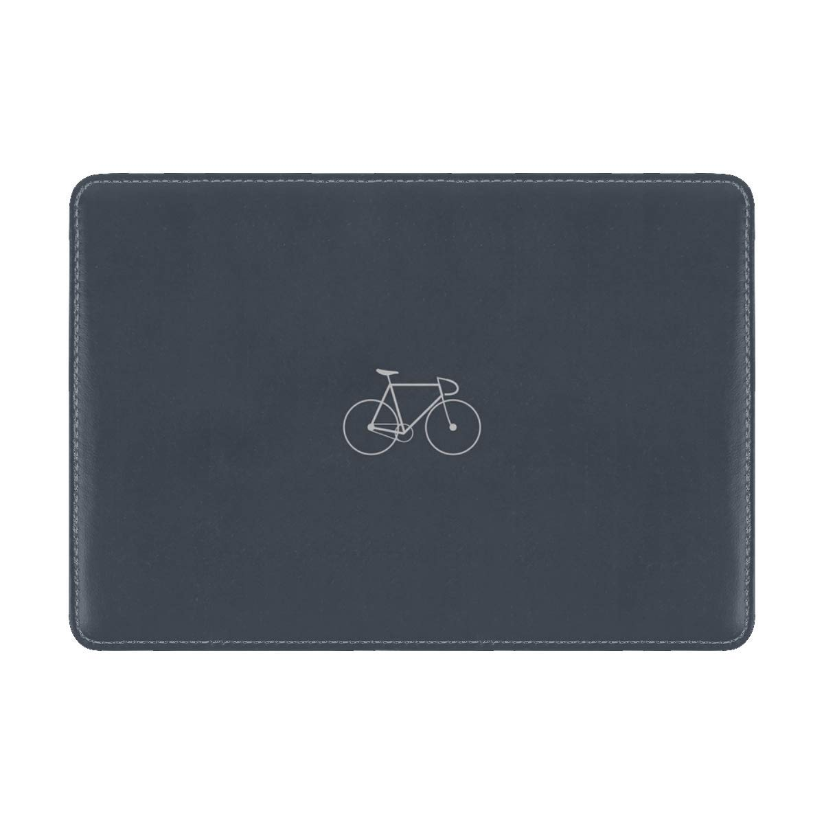 Bicycle Minimalism Gray Leather Passport Holder Cover Case Travel One Pocket