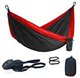 Portable Hammock for Camping Single Lightweight Parachute, with Hammock straps up 450 lb, Premium Outdoors Nylon Hammocks comfortable Swing for Backpacking, Hiking, Travel, Beach, Yard