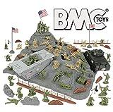 BMC WW2 Iwo Jima Plastic Army Men - Island, Tanks & Soldiers 72pc Playset