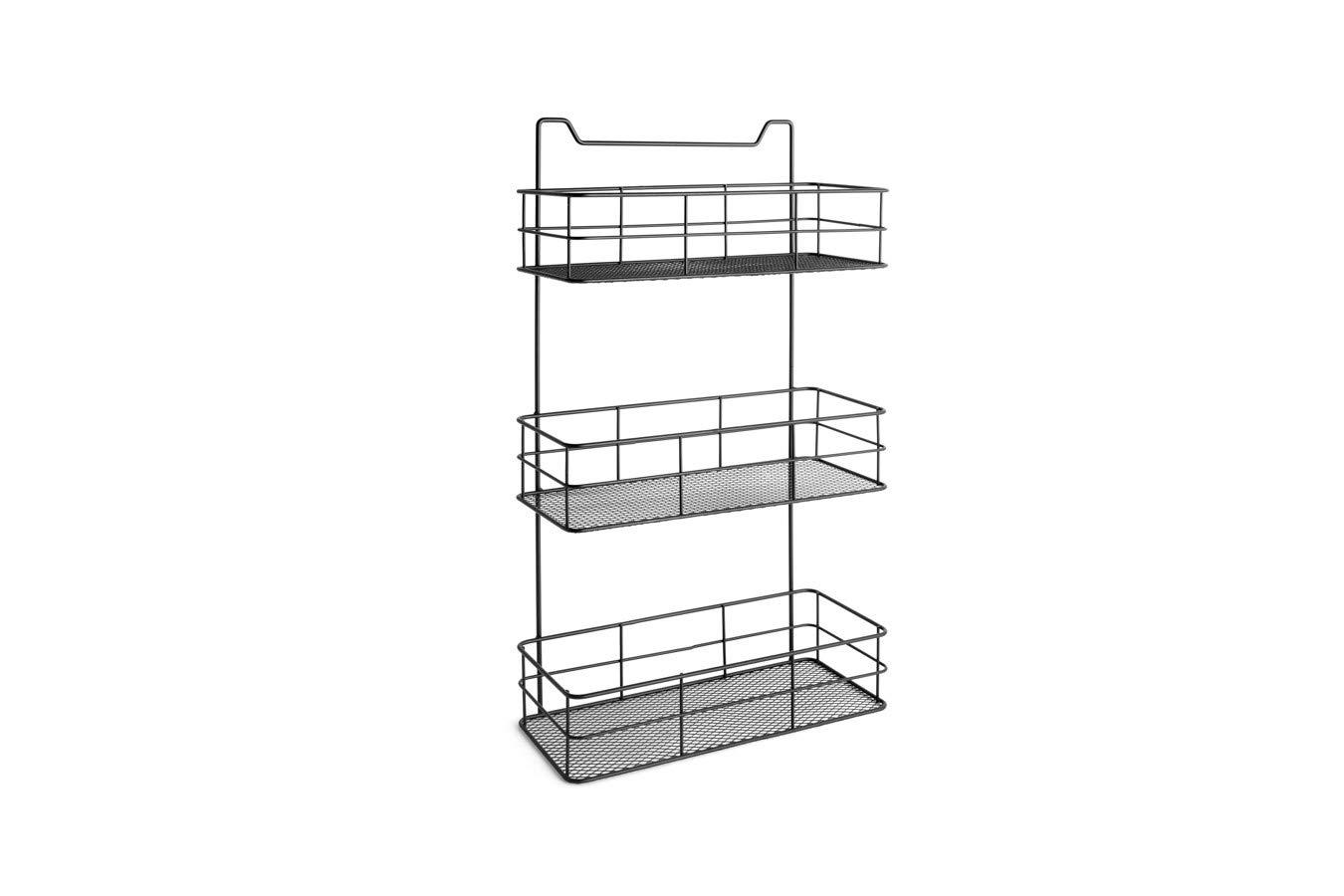 Forma de Cesta Sala de Estar 100/% Metal LIFA LIVING Estanter/ía Colgante de Puerta para ba/ño 2 Estantes organizativos de Puerta Dormitorio