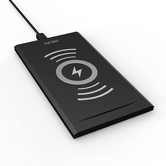Cargador Inalámbrico, Vinsic® Pad de Carga Inalámbrica Para Qi-Compatible Teléfonos Incluídos Nexus 4, HTC 8X, HTC Droid DNA, Nokia Lumia 920, LG ...