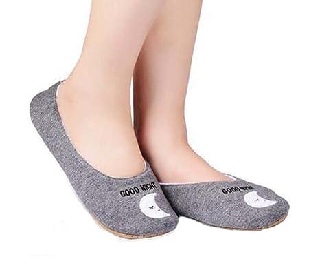 Antideslizante Calcetines de algodón piso Zapatillas Yoga ...