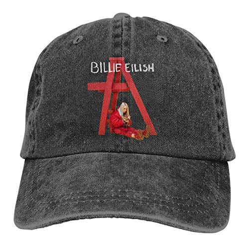 Price comparison product image Audry A Aeorge Billie Eilish 100% Cotton Pigment Dyed Low Profile Six Panel Cap Hat Black