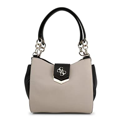 Guess Borsa shopping Kelsey small 3 comparti ecopelle stone