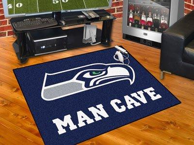 Amazon.com : Brand New Seattle Seahawks Man Cave All Star Rug 34