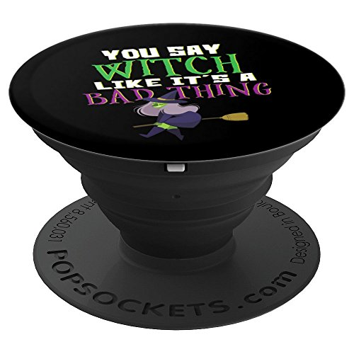 Witch Halloween Costume Funny Women Party Humor Gift - PopSockets Grip and Stand for Phones and Tablets]()