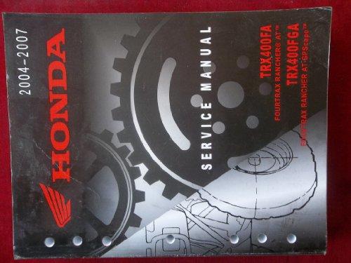 2004 2005 2006 2007 TRX400FA TRX 400 FA FGA Honda Service Repair Manual 2242