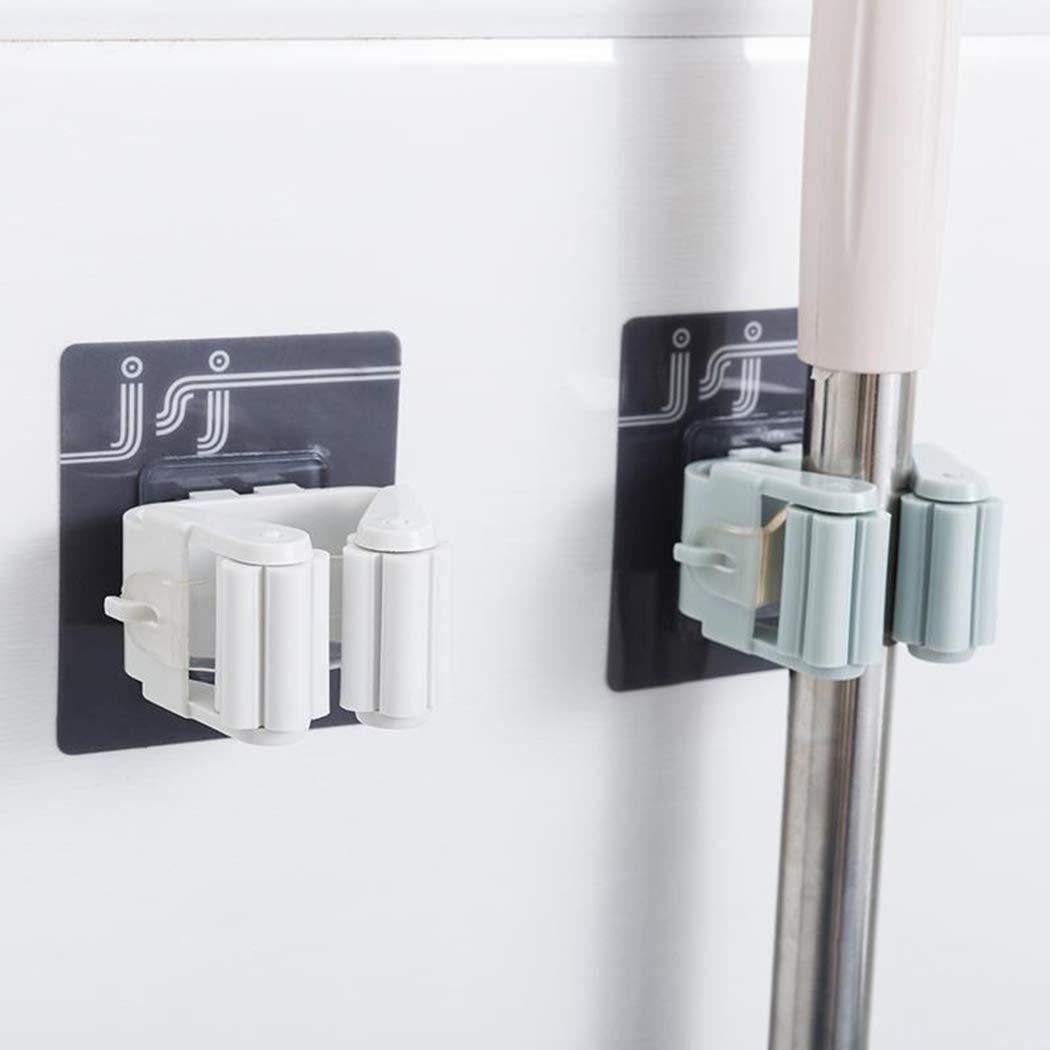 Self Adhesive Wall Mounted Storage Mop Hanger Clip Blue Siaodm Broom Mop Holder